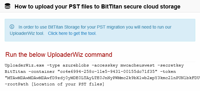 Using UploaderWiz in PST Discovery Mode – BitTitan Help Center