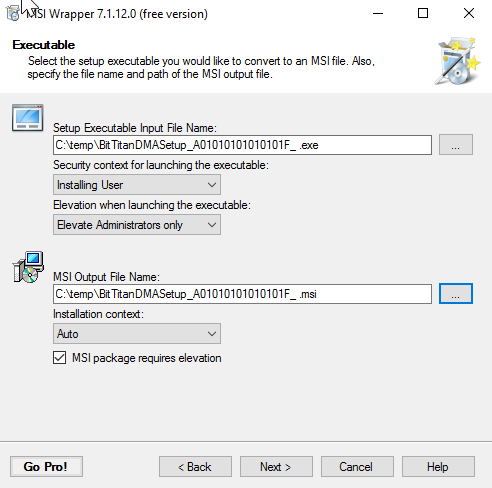 Create a Windows Installer Package (MSI) to deploy the Device