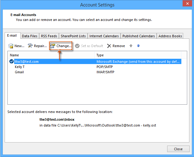How do I prevent Outlook from asking for credentials, after manually